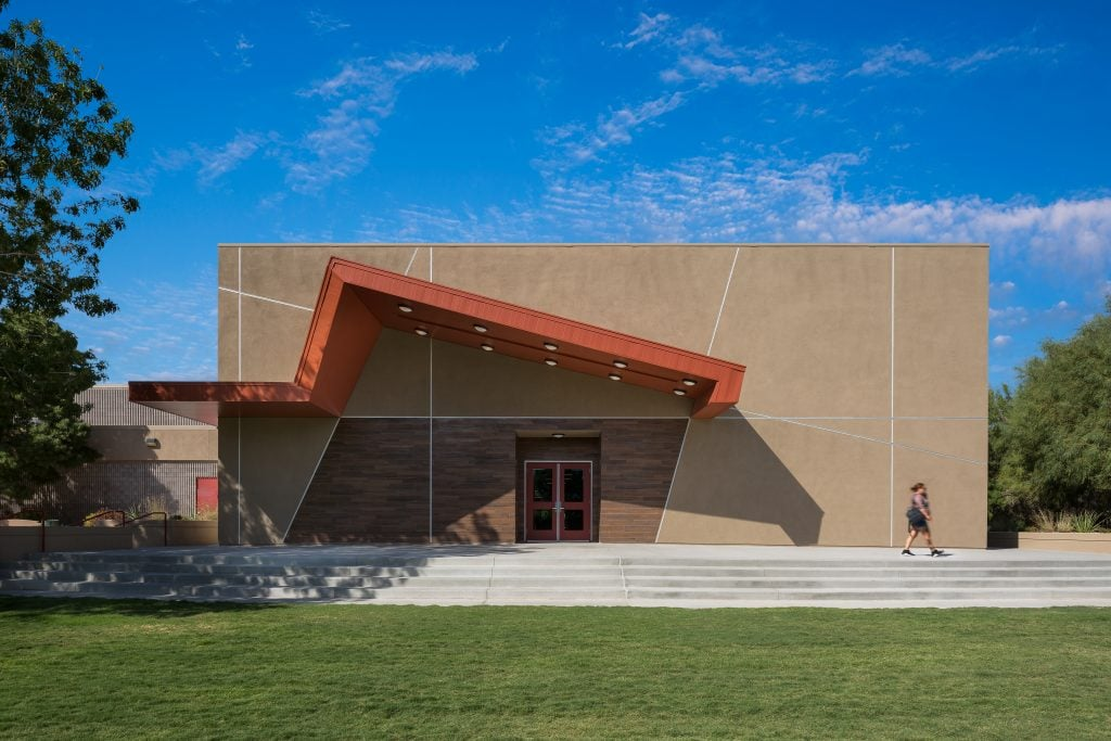 Exterior view of the Winchester Cultural Center expansion in Las Vegas, NV.