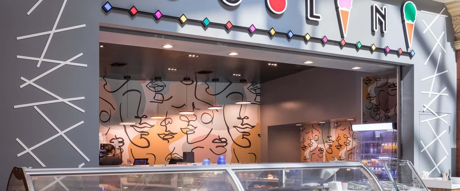 Cocolini gelato shop at Mandalay Place in Las Vegas, NV.
