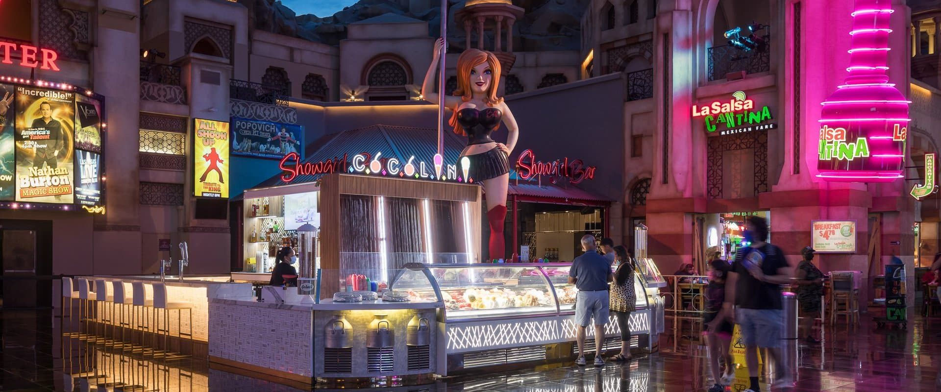 Cocolini located inside the Miracle Mile shops on the Las Vegas Strip.