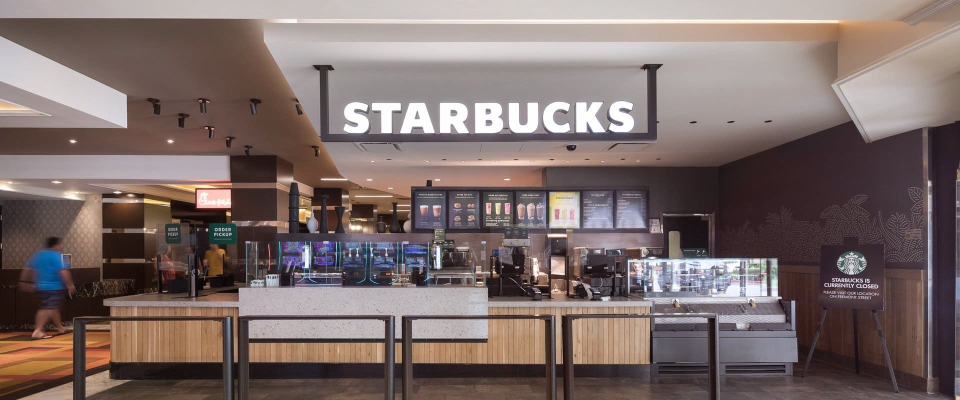 The Starbucks in the Golden Nugget in downtown Las Vegas, NV.