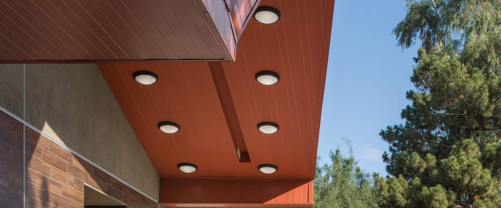The overhang at the Winchester Cultural Center expansion in Las Vegas, NV.