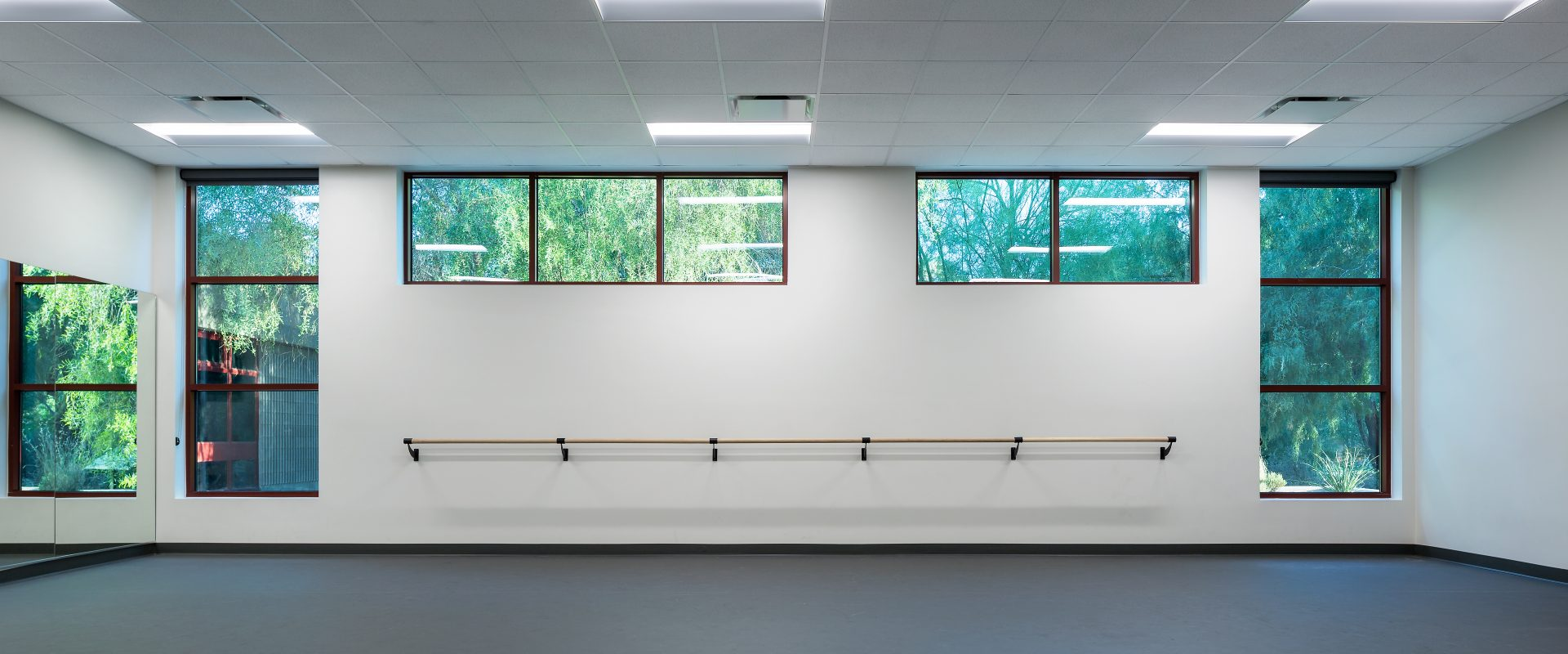 The dance studio inside the Winchester Cultural Center expansion in Las Vegas, NV.